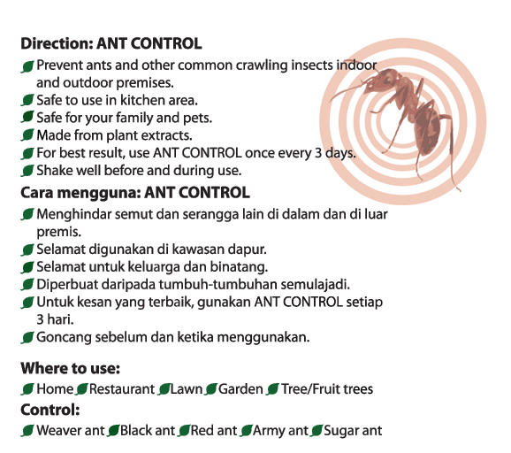 Ant Control Direction